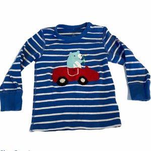5/$15 Polarn O Pyret boys blue & white pajama top